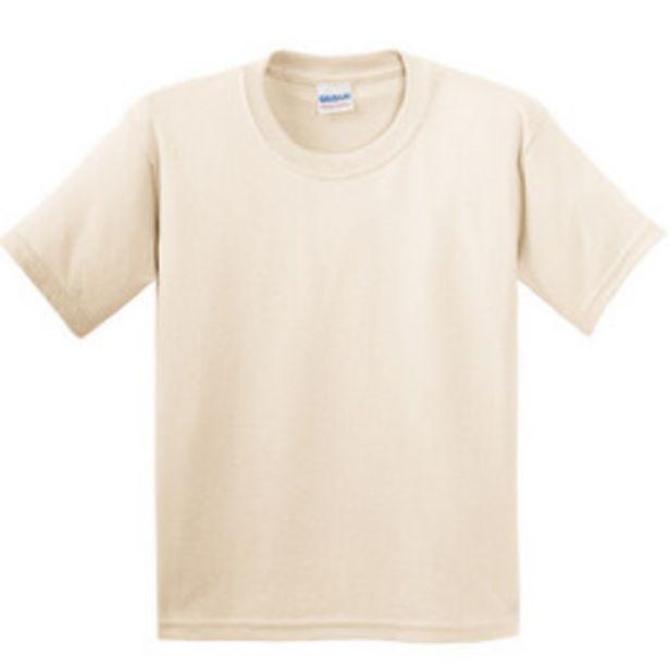 Oferta de Camiseta Infantil Manga Curta Algod´ao Encorpado Gildan (Natural) por 13,44€