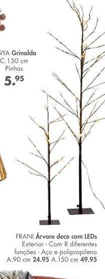 Oferta de FRANI árvore deco com leds por 24,95€