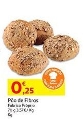 Oferta de Pão por 0,25€