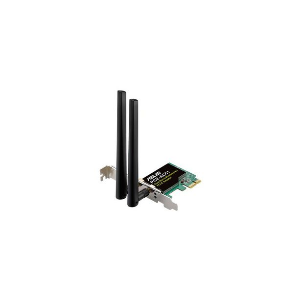 Oferta de Adaptador/Placa Rede PCIe ASUS PCE-AC58BT, Wireless DualBand AC2100  Bluetooth 5. por 45,9€