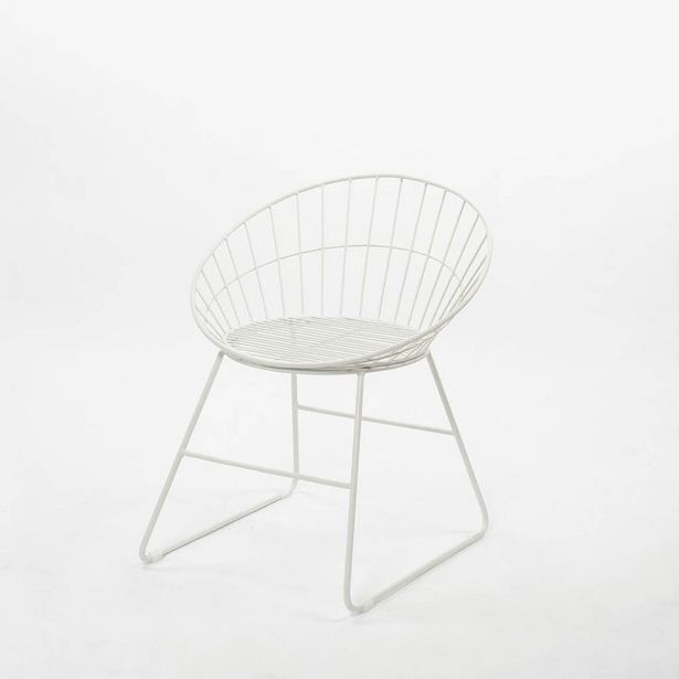 Oferta de Cadeira Sicília Branco60x58x70 cm por 39,99€