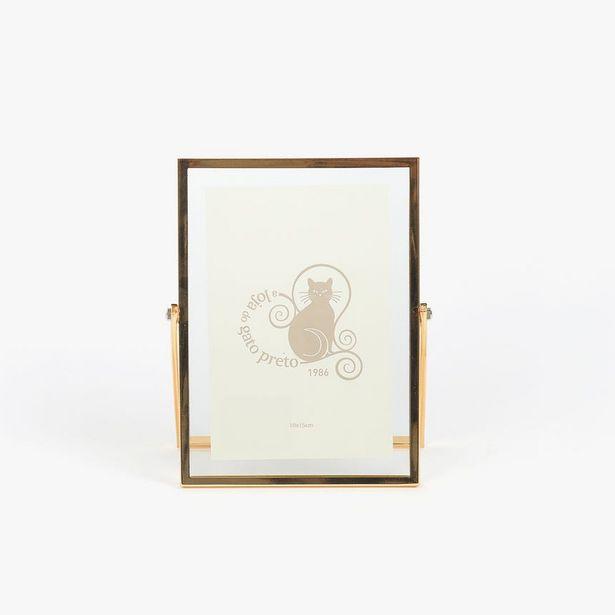 Oferta de Moldura com Pé Dourada 10x15 cm por 13,56€