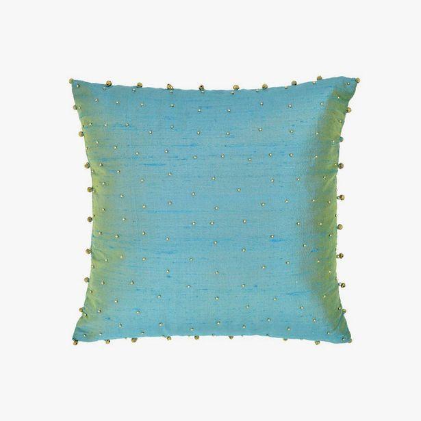 Oferta de Capa de Almofada Guizos Azul 40x40 cm por 17,99€