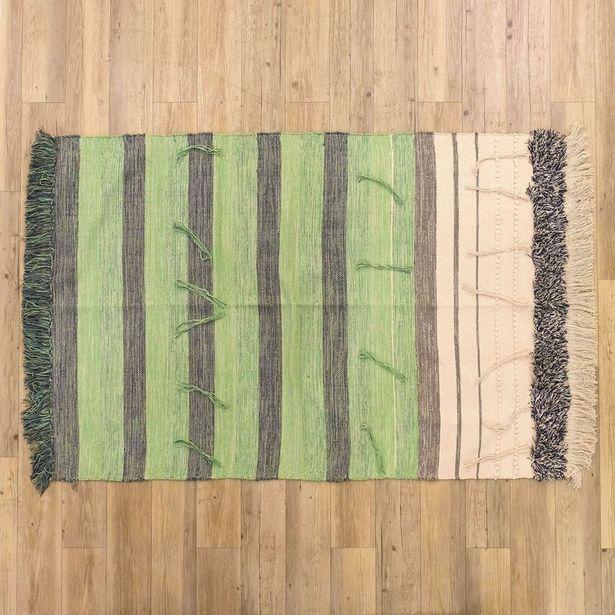Oferta de Tapete Franjas Verde 120x180 cm por 49,99€