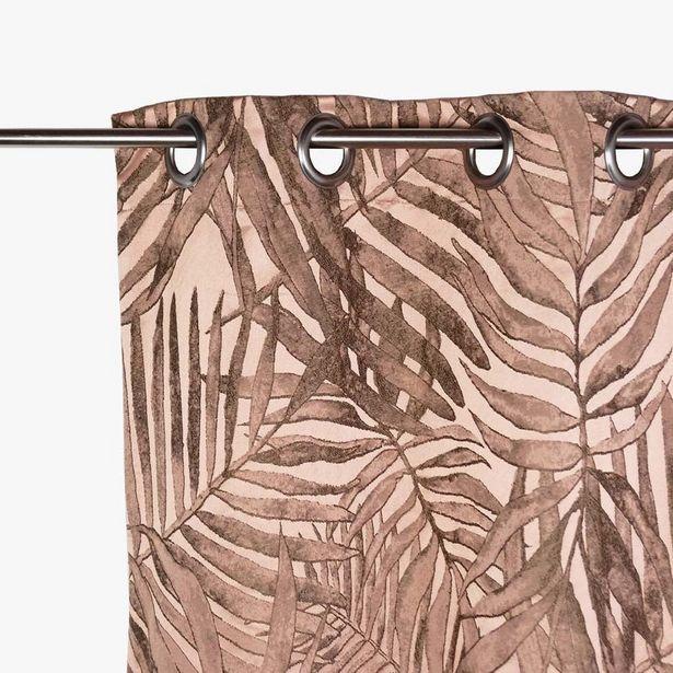 Oferta de Cortinado Estoril Folha Rosa 140x270 cm por 63,99€
