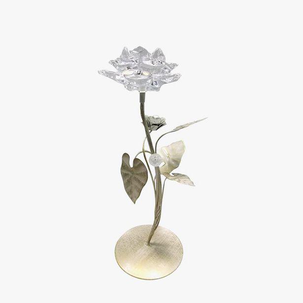 Oferta de Castiçal Flor 13x13x34 cm por 11,96€