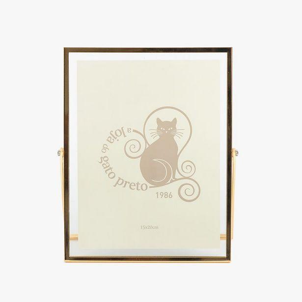 Oferta de Moldura com Pé Dourada 15x20 cm por 19,96€