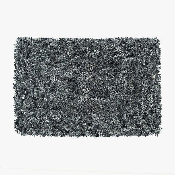 Oferta de Tapete de Banho Anémona Preto 50x80 cm por 19,95€