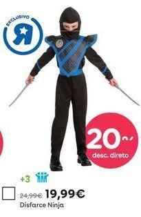 Oferta de Disfarce de ninja por 19,99€
