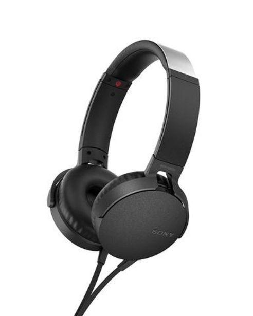 Oferta de Auscultadores Sony MDR-XB550APB Preto por 39,99€