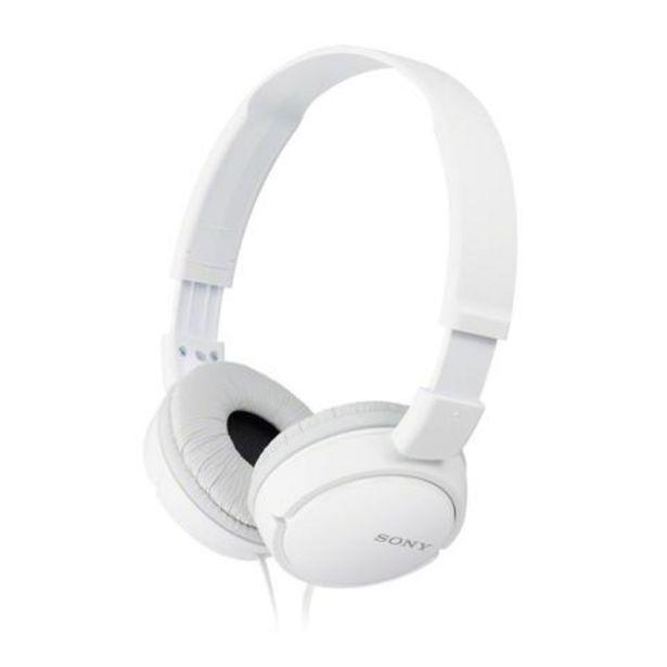 Oferta de Auscultadores Sony MDR-ZX110APW C/ Micro Branco por 17,99€