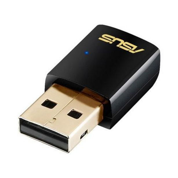 Oferta de Adaptador USB Wireless Asus AC-51 Wi-Fi AC600 por 39,99€