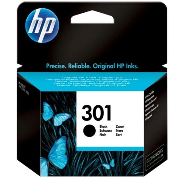Oferta de Tinteiro HP 301 Preto (CH561EE) por 19,99€