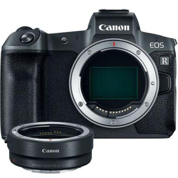Oferta de Máquina Fotográfica Canon EOS R Corpo + Adaptador EF-EOS R - CSC 30 MP   Full frame por 1729€