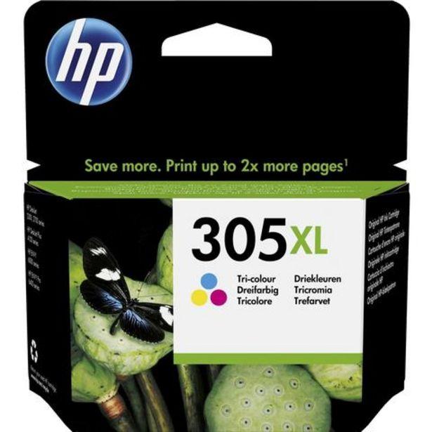 Oferta de Tinteiro HP 305XL Tricolor (3YM63AE) por 24,99€