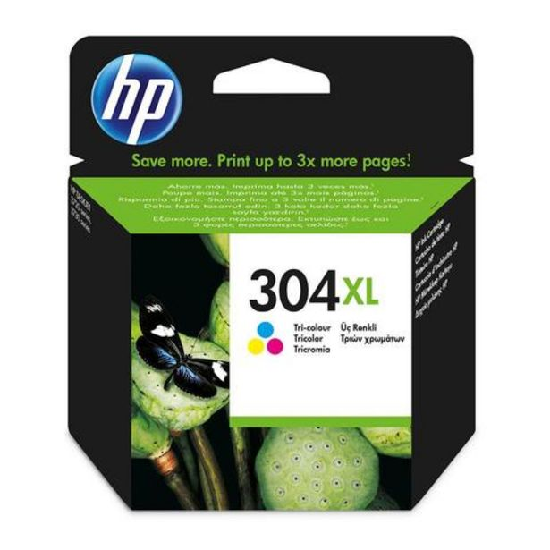 Oferta de Tinteiro HP Pack Tinteiros 304XL Tricolor (N9K07AE) por 34,99€