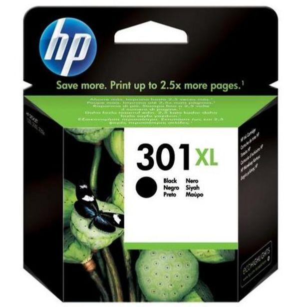 Oferta de Tinteiro HP 301XL Preto (CH563EE) por 39,99€