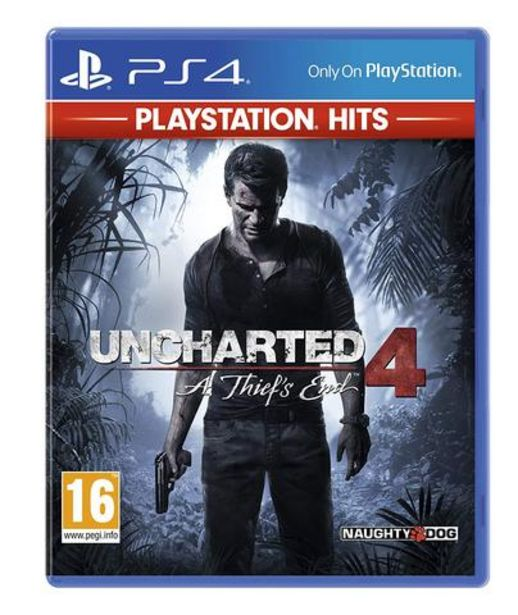 Oferta de Jogo PS4 Hits Uncharted 4: A Thief's End por 9€
