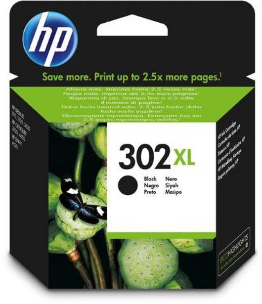 Oferta de Tinteiro HP 302XL Preto (F6U68AE) por 38,99€