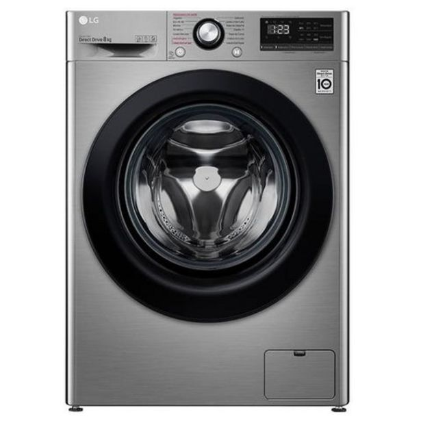 Oferta de Máquina Lavar Roupa LG F4WV3008S6S 8Kg 1400RPM Classe A+++ por 599€