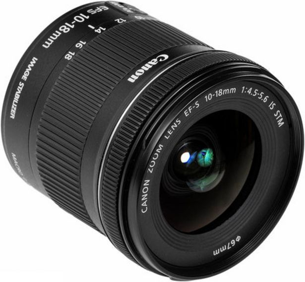 Oferta de Objetiva Canon EF-S 10-18mm IS STM por 219€