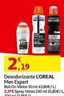 Oferta de Desodorante L'Oréal por 2,19€