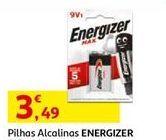 Oferta de Pilhas alcalinas Energizer por 3,49€