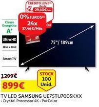 Oferta de Smart tv led Samsung por 899€