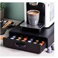 Oferta de CAFE Caixa com gaveta para cápsulas preto H 7.5 x W 28 x D 34.5 cm  por 19,95€