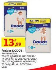 Oferta de Fraldas Dodot por 13,99€