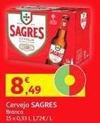 Oferta de Cerveja Sagres por 8,49€