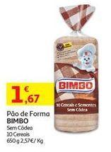 Oferta de Pão de forma Bimbo por 1,67€