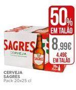 Oferta de Cerveja Sagres por 4,49€