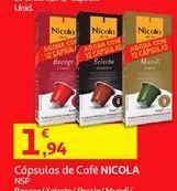 Oferta de Cápsulas de café Nicola por 1,94€