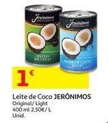 Oferta de Leite de coco Jerónimos por 1€