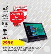 Oferta de Notebook Acer por 299€