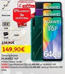 Oferta de Smartphones Huawei por 149,9€