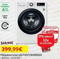 Oferta de Máquina lavar roupa LG por 399,99€