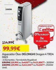 Oferta de Aquecedor Delonghi por 99,99€