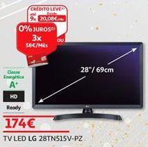Oferta de Tv 28'' led LG por 174€