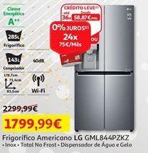 Oferta de Frigorífico americano LG por 1799,99€