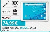 Oferta de Tablet Qilive por 74,99€