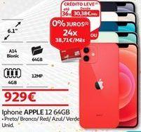 Oferta de IPhone Apple por 929€