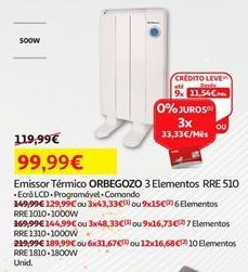 Oferta de Emissor térmico Orbegozo por 99,99€
