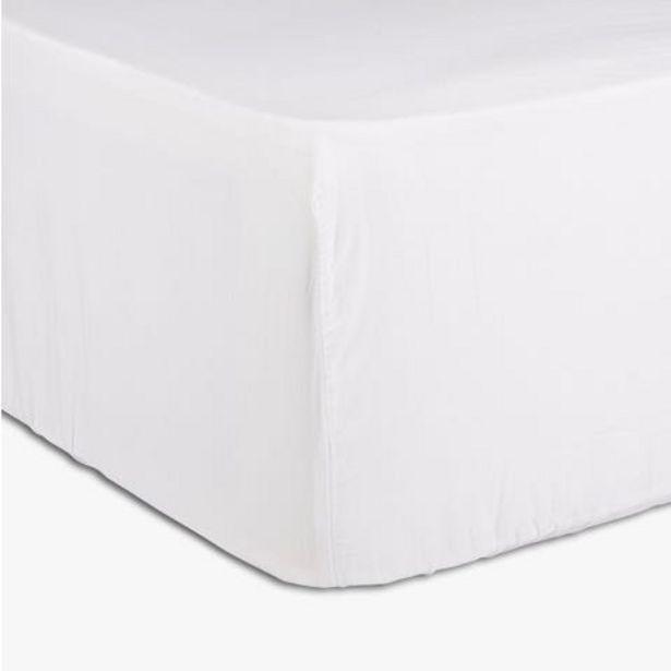 Oferta de Lençol ajustável Paris branco 90x200 cm por 18,39€