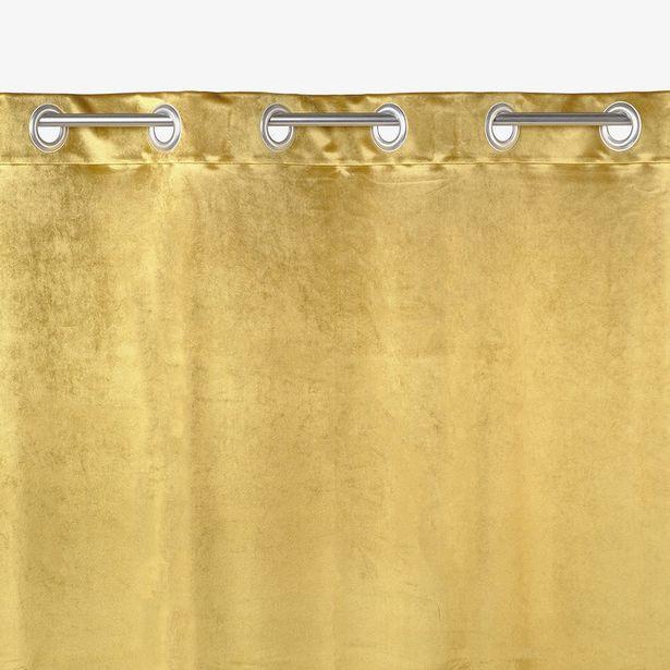 Oferta de Cortinado Veludo Mostarda 135x250 cm por 49,99€