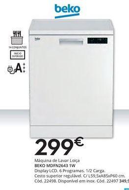 Oferta de Lava louças beko por 299€
