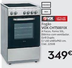Oferta de Fogão a gás Vox por 349€