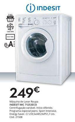 Oferta de Máquina lavar roupa Indesit por 249€