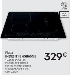 Oferta de Placa de cozinha Indesit por 329€